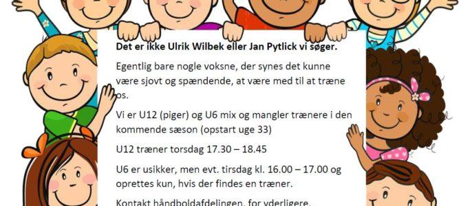 Håndbold søger trænere til kommende sæson U12 piger og U6 Mix